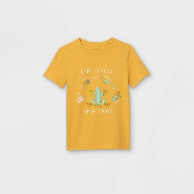 Boys' Short Sleeve 'Frog Life Cycle' Graphic T-Shirt - Cat & Jack™ Yellow