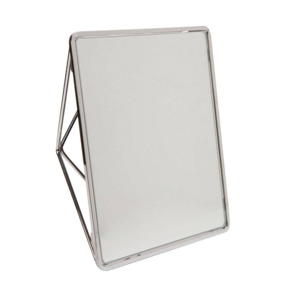 Image of Geometric Vanity Mirrors Chrome - Home Details, Silver