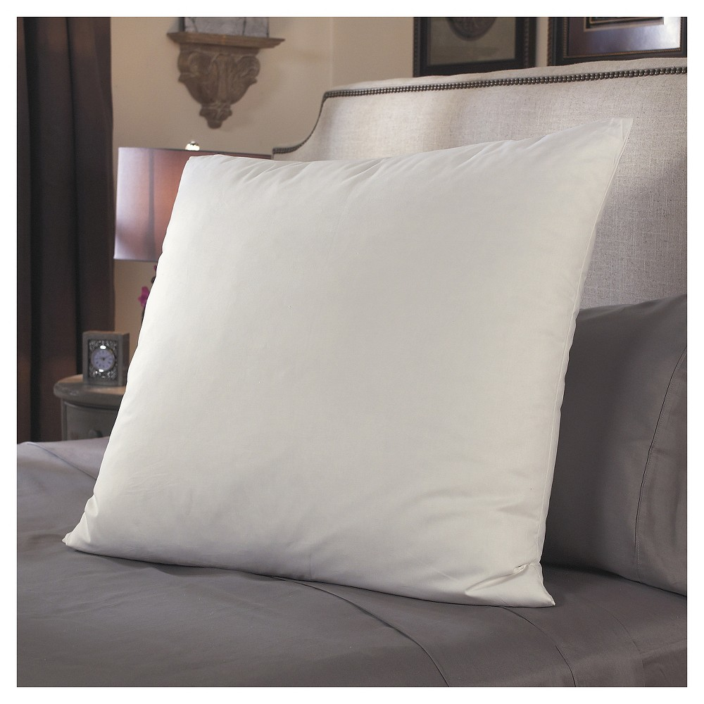 Image of Restful Nights European Square Pillow - White