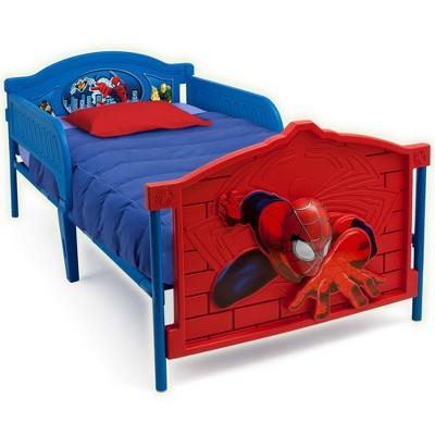 Twin Marvel Spider-Man Plastic 3D Bed - Delta Children