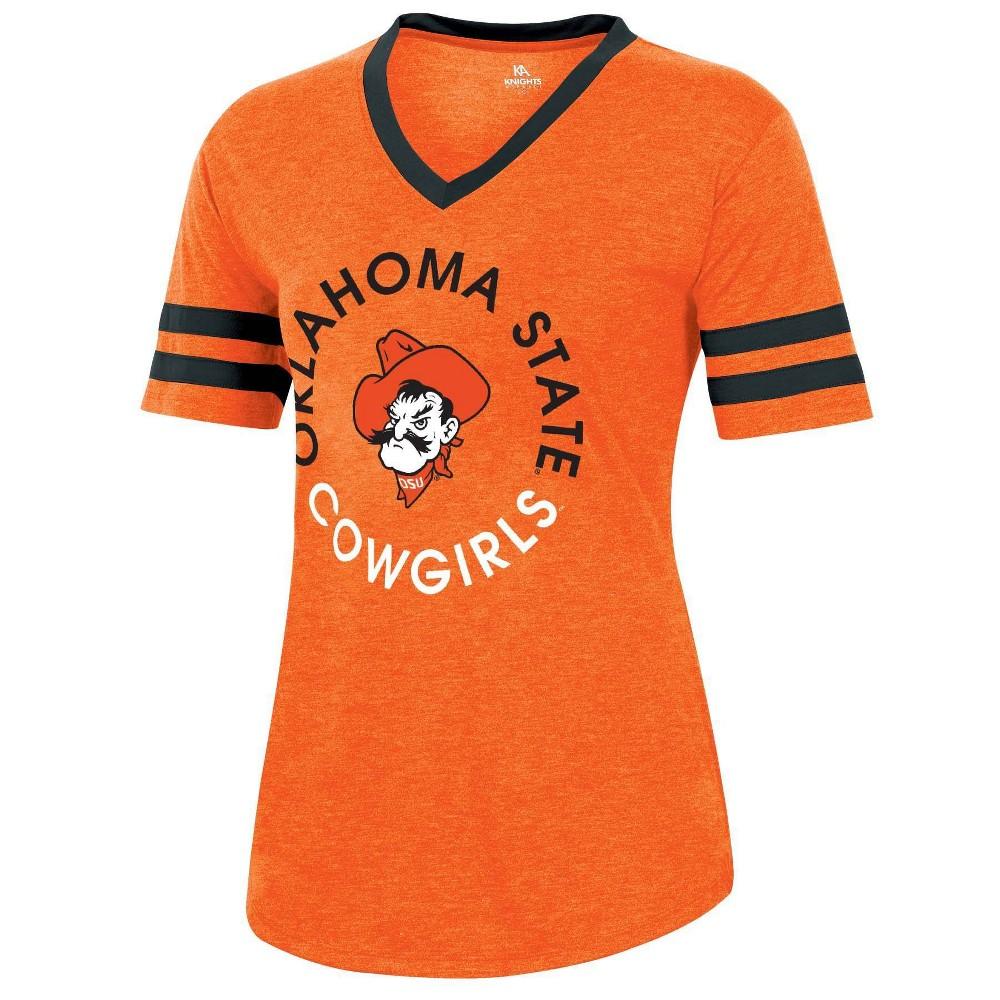 Ncaa Oklahoma State Cowboys Women 39 S Short Sleeve V Neck Heathered T Shirt S