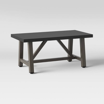 Faux Wood Patio Coffee Table with Faux Concrete Tabletop - Smith & Hawken™