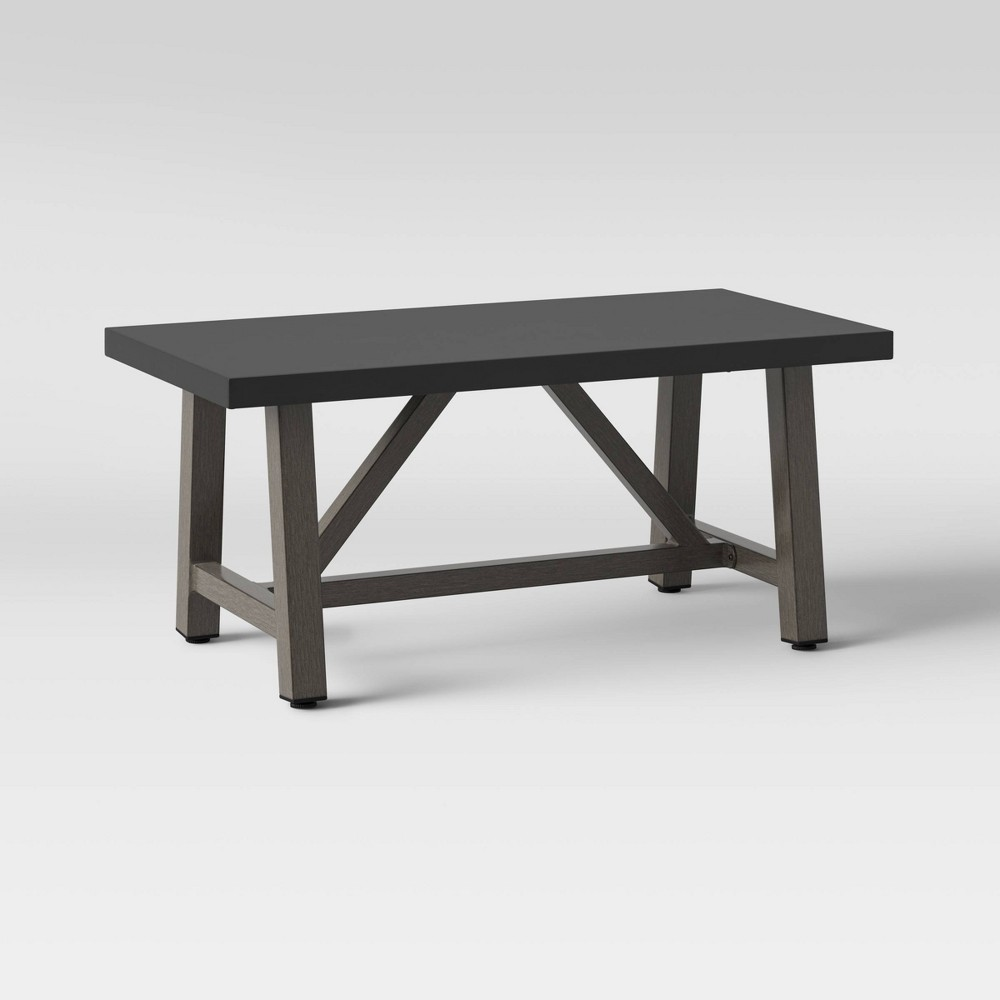 Top Concrete & Faux Wood Patio Coffee Table - Smith & Hawken™