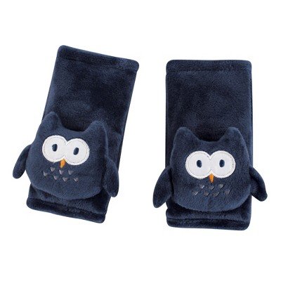 Hudson Baby Infant Boy Cushioned Strap Covers, Navy Owl, One Size