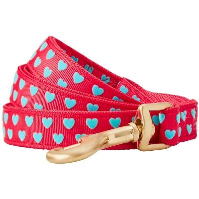 Blueberry Pet Velvety Heart Flocking Dog Leash - Lust Red