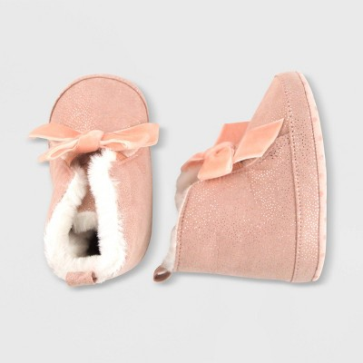 Baby Girls' Suede Crib Shoes - Cat & Jack™ Pink 0-3M