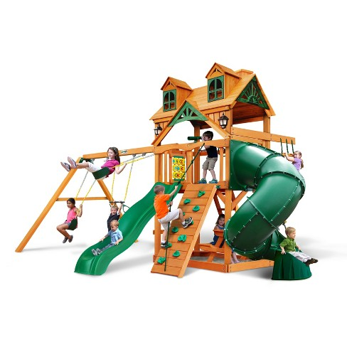 Gorilla Playsets Malibu Extreme Swing Set with Amber - image 1 of 4