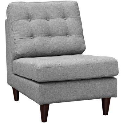 Empress Upholstered Lounge Chair Light Gray - Modway