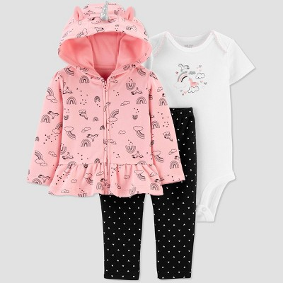 Baby Girls' South Unicorn Top & Bottom Set - Just One You® made by carter's Pink/Black 9M