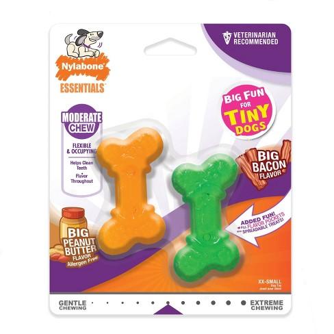 Nylabone Moderate Dog Chew Twin Pack XXS - image 1 of 4
