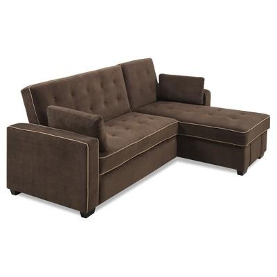 Charmant Landry Sectional Sofa   Dark Java   Serta : Target