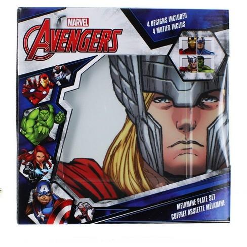 Seven20 Marvel Avengers Melamine Plate Set, 4 Pieces - image 1 of 1