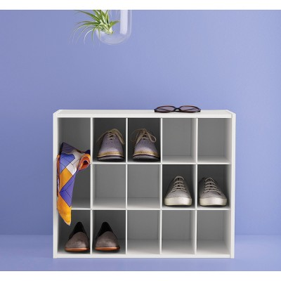 15 Pair Shoe Rack   White   Room Essentials™ : Target