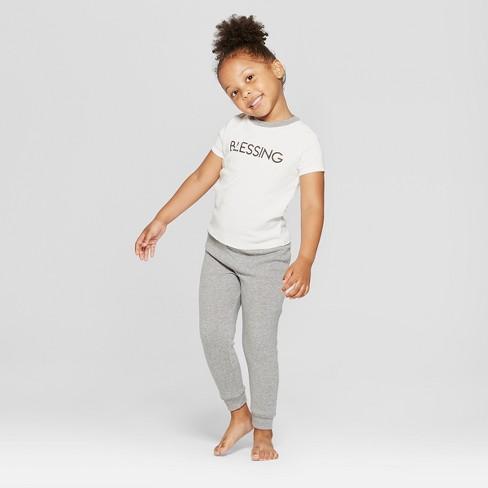 Weekend Soul Toddler Blessed Pajama Set - Ivory 2T   Target 651eef0ee