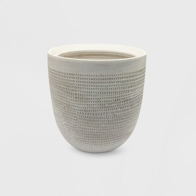 9  Textured Ceramic Planter White - Project 62™