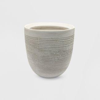9u0022 Textured Ceramic Planter White - Project 62™