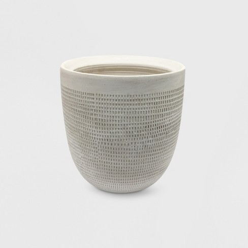 Textured Ceramic Planter White - Project 62™ - image 1 of 3