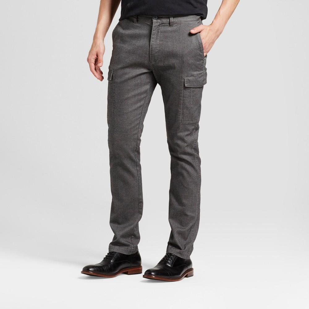Men's Slim Herringbone Cargo Pants - Goodfellow & Co Gray 32x32