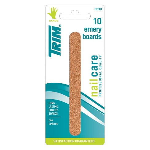Trim Durable 2-Texture Emery Board Nail Files - 10pc - image 1 of 3