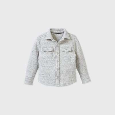 OshKosh B'gosh Toddler Boys' Quilted Sweatshirt - Heather Gray 5T