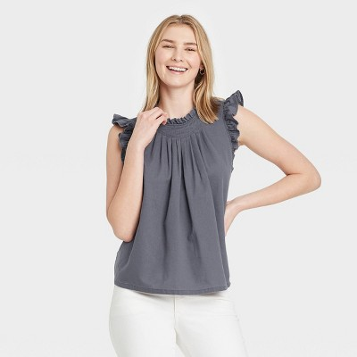 Women's Pleated Tank Top - Universal Thread™