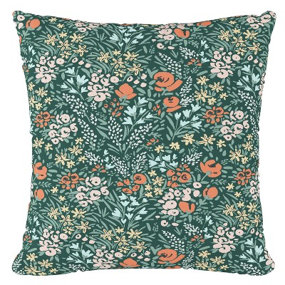 Green Floral Throw Pillow - Cloth & Company