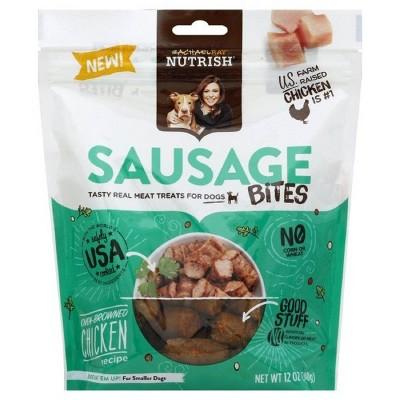 Rachael Ray Nutrish Sausage Bites Jerky Dog Treats Oven- Browned Chicken Recipe 12oz