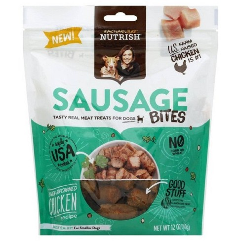 Rachael Ray Nutrish Sausage Bites Dog Treats Oven- Browned Chicken Recipe 12oz - image 1 of 4