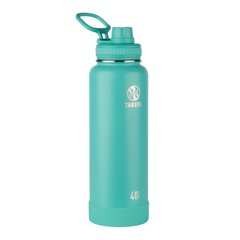 32 Ounces Stainless Steel Takeya Actives Insulated Water Bottle w//Straw Lid