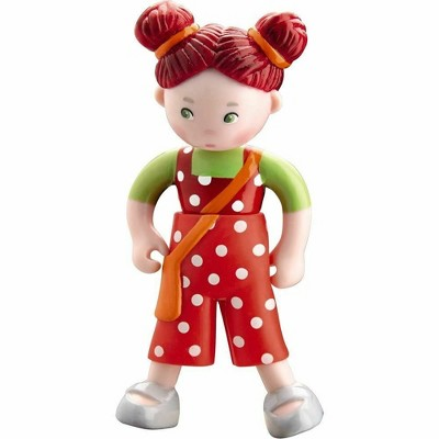"""HABA Little Friends Felicitas - 4"""" Dollhouse Toy Figure with Red Pigtails"""