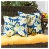 Set of 2 Marlow Floral Outdoor Square Throw Pillows - Kensington Garden - image 2 of 4