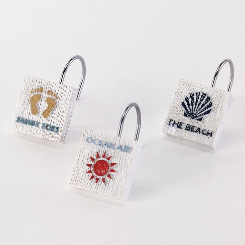 Beach Words Shower Hooks