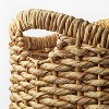 """16.5"""" x 16"""" Chunky Round Woven Basket Natural - Threshold™ designed with Studio McGee - image 3 of 4"""