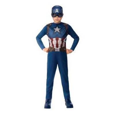Kids' Marvel Captain America Halloween Costume Jumpsuit with Mask