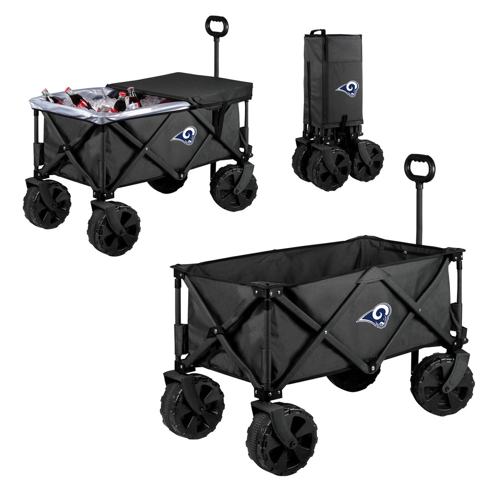 NFL Los Angeles Rams Picnic Time Elite Cooler with All-Terrain Wheels - Dark Gray
