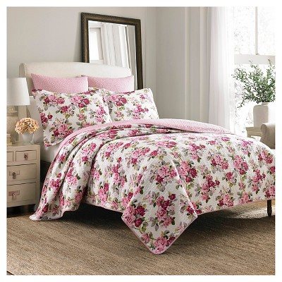 Lidia Quilt And Sham Set King Pink Multi - Laura Ashley™