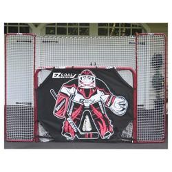 EZ Goal Folding Metal Hockey Goal with Backstop-Targets & Shooter Tutor - 6'x4'