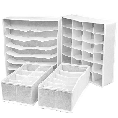 4pc Sorbus Cube Storage Box White