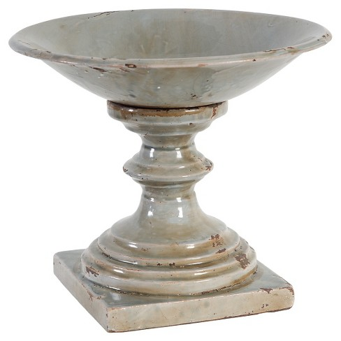 """Ceramic Pillar Candle Holder Rustic Finish 10.5"""" - A&B Home - image 1 of 1"""