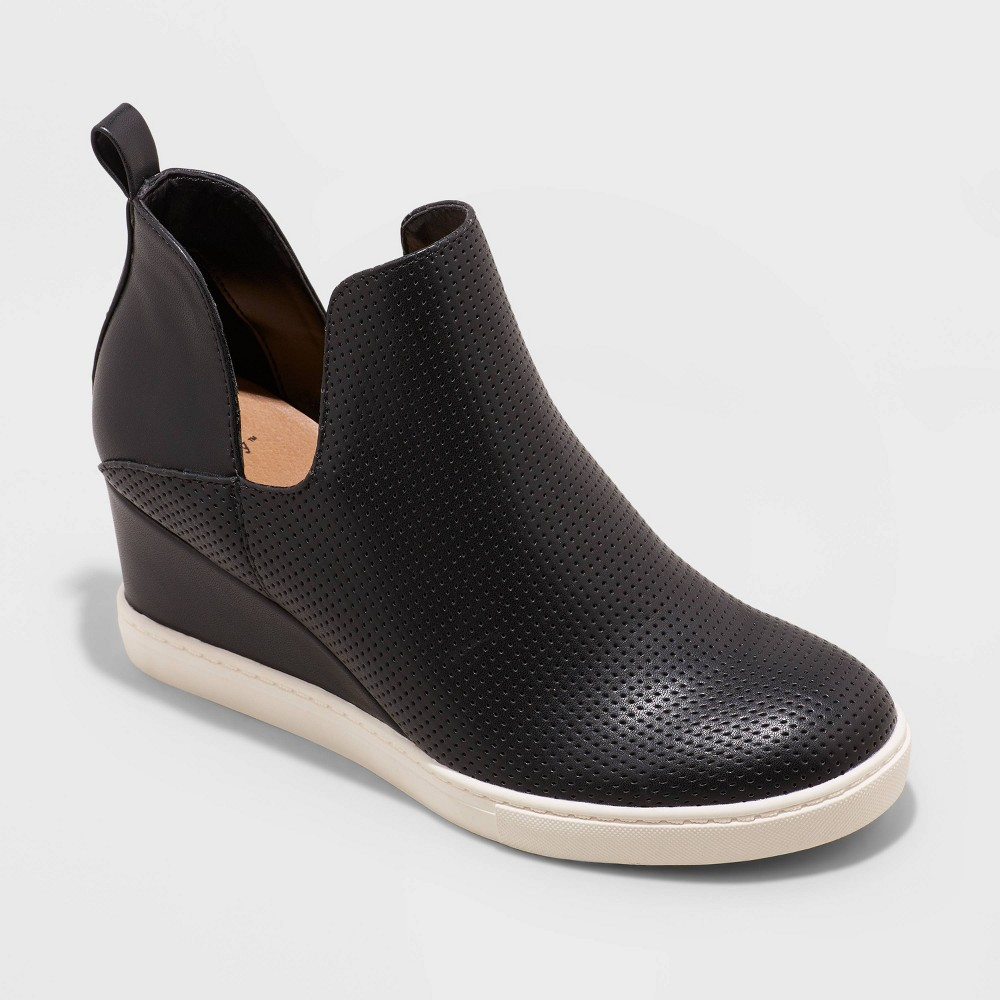 Women 39 S Caralie Wedge Sneakers A New Day 8482 Black 8