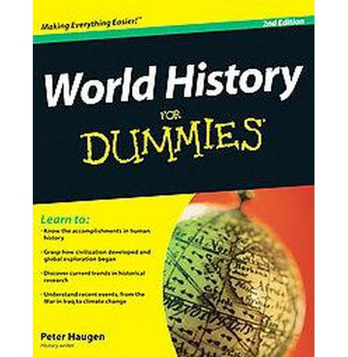 World History for Dummies (Original) (Paperback) (Peter Haugen) - image 1 of 1