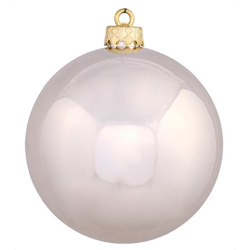 60ct Champagne Shiny Ball Shatterproof Christmas Ornament Set - image 1 of 1