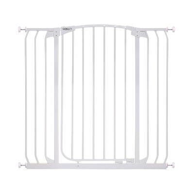 Bindaboo B1123 Zoe 38 to 42.5 Inch Extra Tall Extra Wide Auto-Close Wall to Wall Baby and Pet Safety Gate for Doors, Stairs, and Hallways, White