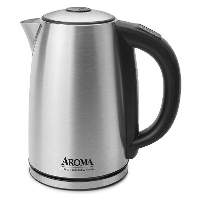 Aroma Housewares AWK-1800SD Premium 1.7L 7 Cup Digital Stainless Steel Electric Kettle with Temperature Control, Silver