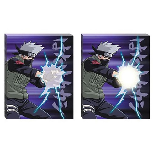 Just Funky Naruto Shippuden Kakashi Chidori 20 X16 Light Up Canvas Wall Art Target