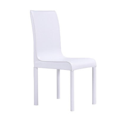 Perriton Faux Leather Dining Chairs (Set of 4)White - Aiden Lane