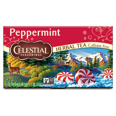 Celestial Seasonings Caffeine Free Peppermint Herbal Tea - 20ct - image 1 of 1