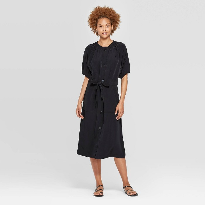 Women's Elbow Sleeve Shirred Crewneck Midi Dress - Prologue™ - image 1 of 3