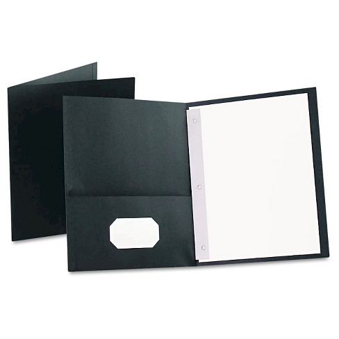 "Oxford® Twin-Pocket Folders with 3 Fasteners, Letter, 1/2"" Capacity, Dark Blue, 25/Box - image 1 of 1"