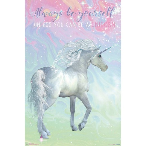 """34""""x23"""" Unicorn On Pastels Unframed Wall Poster Print - Trends International - image 1 of 2"""